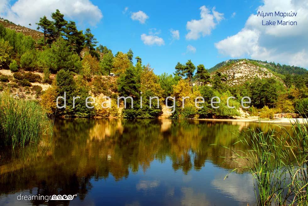 Lake Marion Thassos island Northeastern Aegean islands Greece