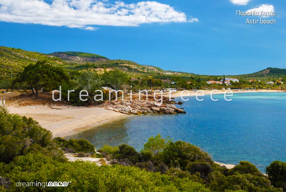 Astir beach in Thassos island. Vacations in Greece