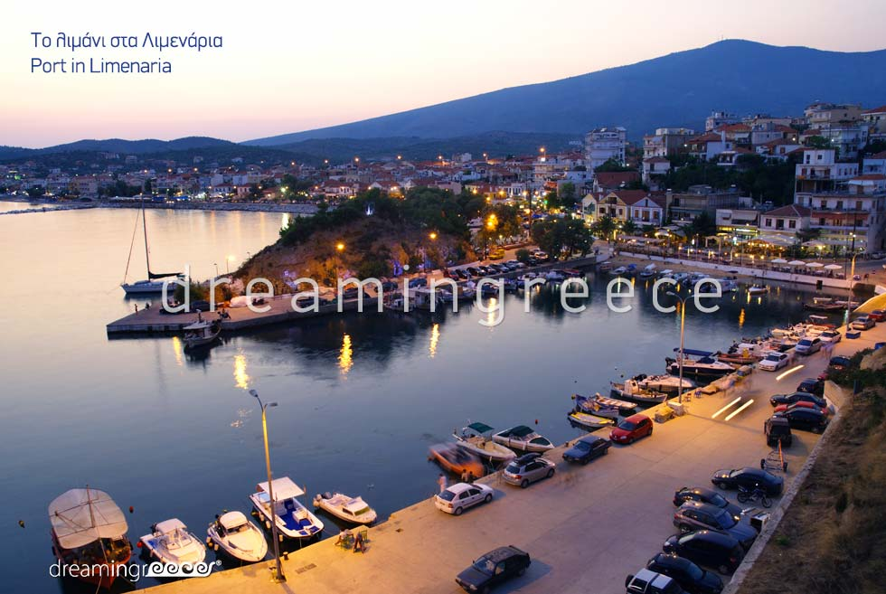 Vacations in Limenaria Port Thassos island Greece