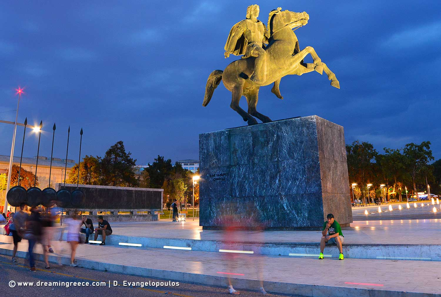 Alexander the Great. Holidays in .Thessaloniki. Travel Guide of Central Macedonia Greece