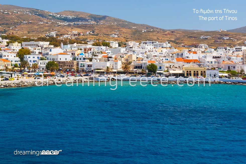 Port of Tinos. Tourist Guide of Greece