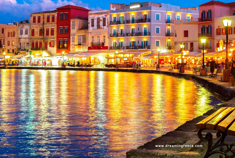Holidays in Chania Crete island Greece. Vacations Greek islands.