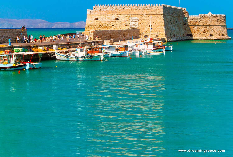Holidays in Heraklion Crete island Greece. Vacations Greek islands.