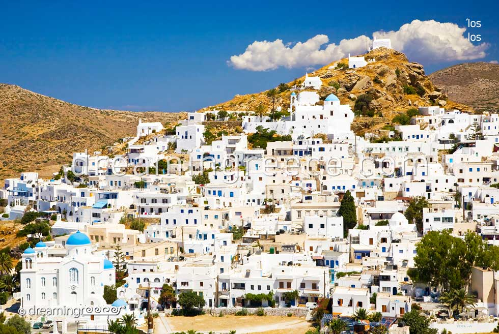 Ios island Greece. Travel guide of Cyclades islands