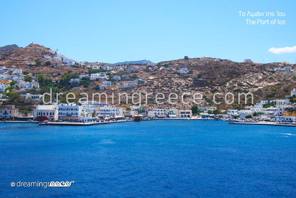 Port Ios Greece. Holidays in Greek islands