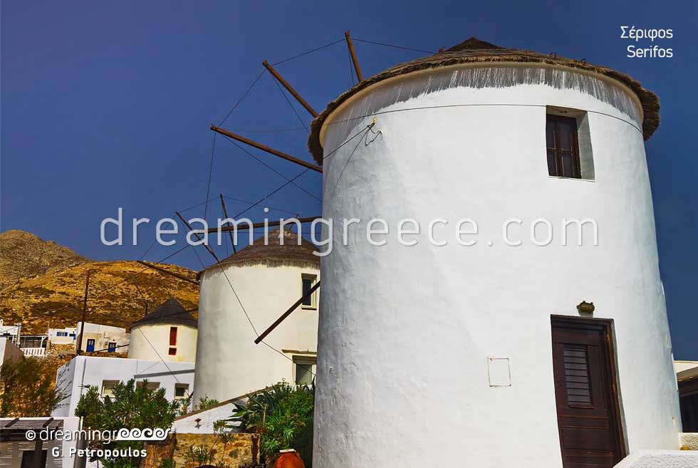 Windmills Serifos island Greece