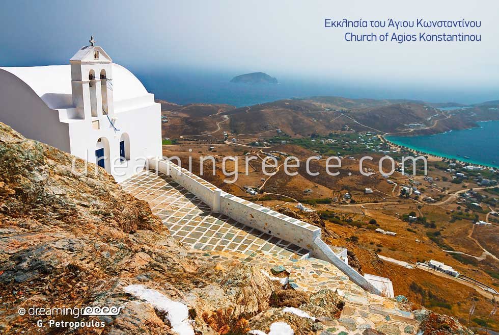 Church Agios Konstantinos. Tourist guide of Serifos Greece