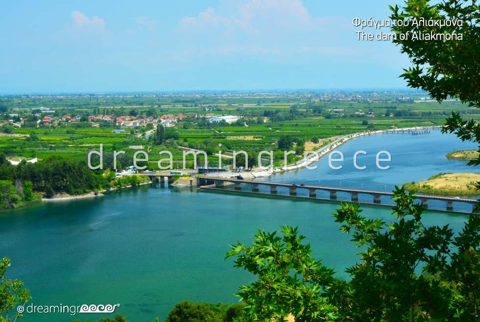 Aliakmona Dam Veria Greece. Greek Travel.