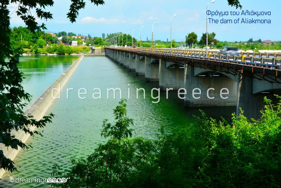 Aliakmona Dam in Veria Greece. Bridges in Greece.