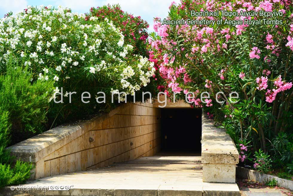 Aegae Royal tombs Greece. Museums in Greece.