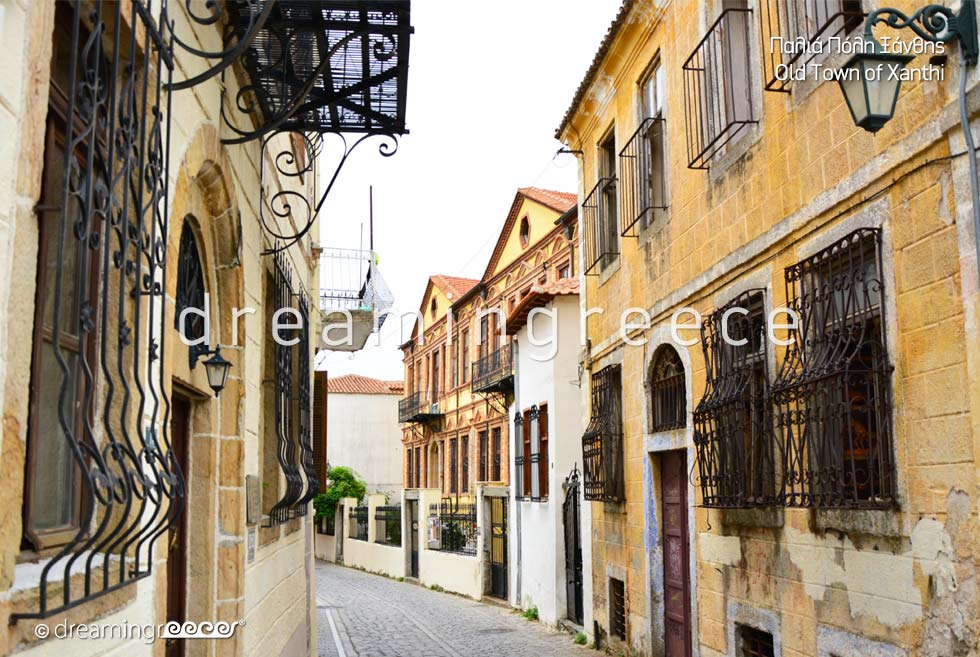 Old town Xanthi Eastern Macedonia and Thrace. Travel Guide of Greece