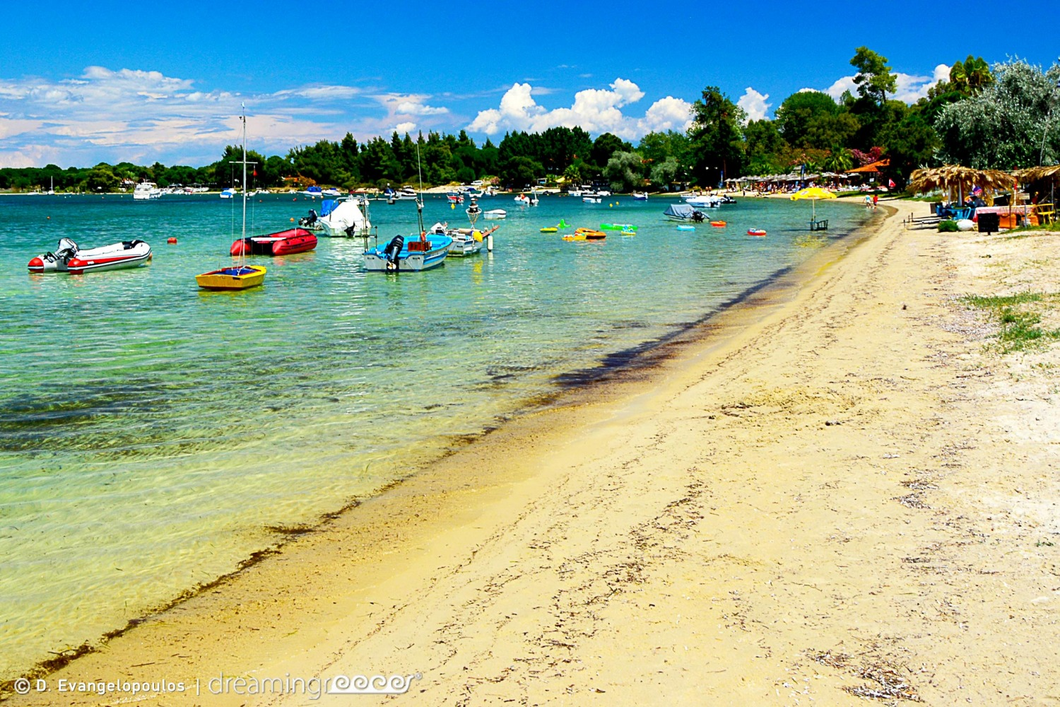 Camping in Greece Halkidiki Vourvourous beach