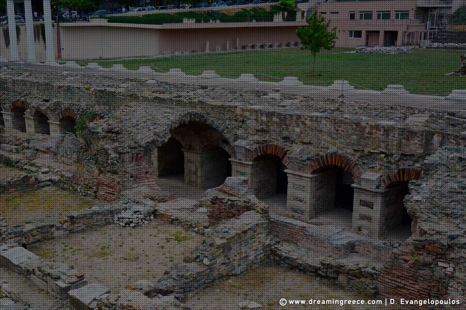 Thessaloniki's Ancient Agora. Archaeological sites in Greece