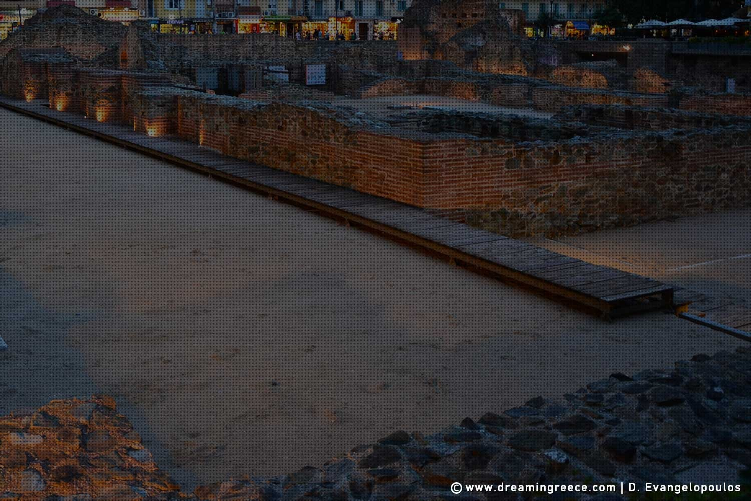 The Ancient Hippodrome Thessaloniki. Archaeological sites in Greece