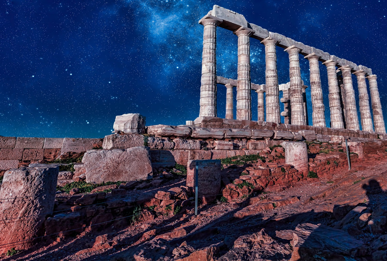 Temple of Poseidon Sounio Athens Greece. Archaeological sites in Greece.