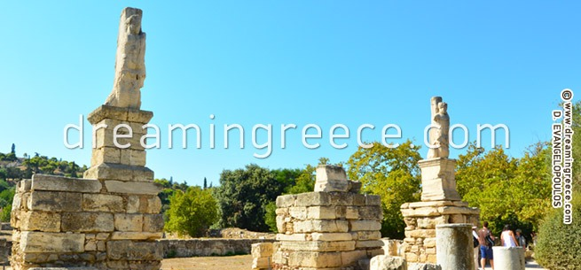 Ancient Agora of Athens Greece. Archaeological sites in Greece.
