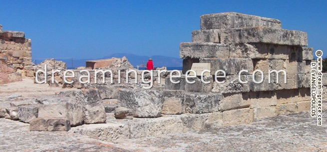Archeological site of Kolona in Aegina Greece