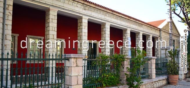 Folklore Museum of Arachova Greece. Winter Holidays in Greece.