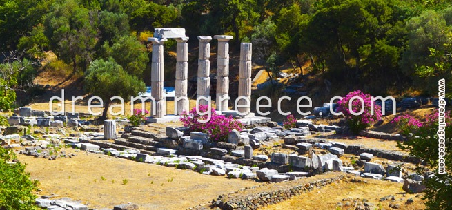 Sanctum of The Great Gods - Samothrace Greece. Summer holidays in Greece.