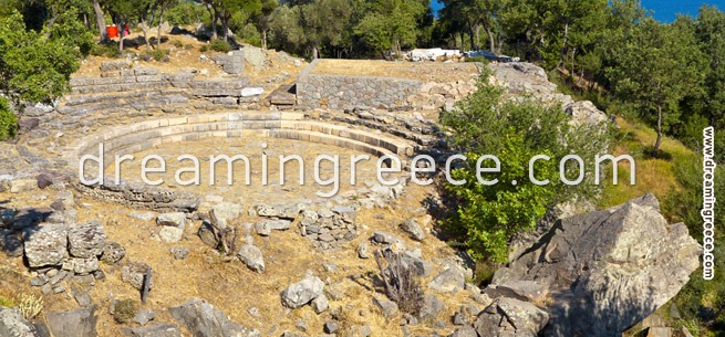 Sanctum of The Great Gods - Samothrace Greece. Holidays in the greek islands