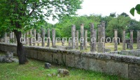 Archaeological Site Ancient Olympia Ilia. Travel Guide of Peloponnese Greece