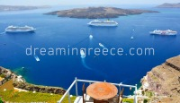 The volcano in Santorini island Greece